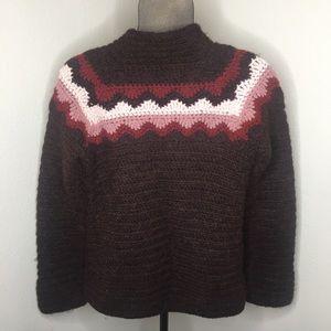J. Crew Chunky Hand Knit Sweater Alpaca blend